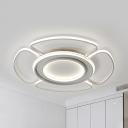 Nordic Blossom LED Ceiling Mount Light Acrylic Flush Light in Warm/White for Study Room