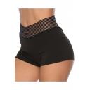 Summer Womens Hot Popular Plain Shaping Bum Lift Black Training Yoga Hot Pants Shorts