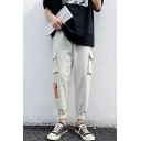 Men's New Fashion Colorblocked Multi-pocket Elastic Cuffs Casual Cargo Pants