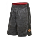 Men's Popular Fashion Printed Logo Embroidery Elastic Waist Loose Fit Basketball Shorts
