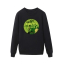 Cool Figure Letter YOU HAVE FAILED THIS CITY Print Round Neck Long Sleeve Pullover Sweatshirt