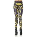 Hit Popular Halloween Yellow Printed Elastic Waist In Skinny Fit Legging Pants