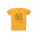 Summer Stylish Yellow Floral Letter Plant These Save the Bees Cotton Loose Graphic Tee