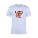 Summer Popular Dragon Dracarys Pattern Round Neck Short Sleeve White T-Shirt