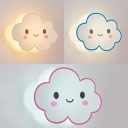 Smile Cloud LED Wall Light Modern Lovely Acrylic White/Yellow Lighting Sconce Light in Blue/Pink/White