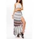 Womens Summer Holiday Boho Style Split Side Maxi Beach Wrap Skirt