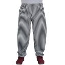 New Stylish Stripes Printed Elastic Waist Loose Fit Casual Sweatpants for Men