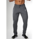 Men's New Fashion Logo Printed Drawstring Waist Slim Fit Casual Sports Joggers Sweatpants