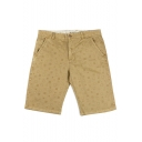 Summer New Fashion Plaid Pattern Men's Regular Fit Casual Cotton Chino Shorts