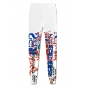 Unisex New Fashion Letter Printed Sport Casual Joggers Sweatpants