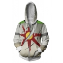 Popular Game Comic Cosplay Costume Sun Print Long Sleeve Sport Zip Up Hoodie