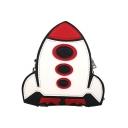 Cute Cartoon Rocket Pattern Crossbody Bag with Chain Strap 17.5*18*5.5 CM