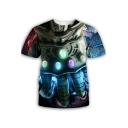 New Stylish Cool Infinite Glove 3D Printed Round Neck Short Sleeve T-Shirt