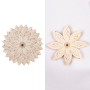 Nordic Style Blossom Wall Sconce Wood LED Wall Light in Beige for Hallway Child Bedroom