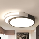 Acrylic Crescent&Moon Ceiling Mount Light Living Room Simple Style Stepless Dimming/Warm/White Flush Mount Light