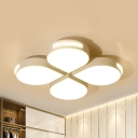 Floral Living Room LED Flush Mount Light Acrylic Simple Style Warm/White/Third Gear Ceiling Fixture
