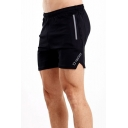 Summer Trendy Letter TWOTAGS Print Elastic Waist Sport Shorts for Men