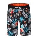 Fashion Tropical Printed Drawstring Waist Beach Surfing shorts Swim Trunks