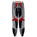 Hot Fashion Cosplay Costume Drawstring Waist Grey Loose Fit Sweatpants