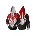 Popular Black and Red Spider Comic Cosplay Costume Long Sleeve Zip Up Hoodie