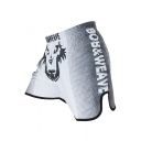 Cool Fashion Colorblock Letter Wolf Printed Elastic Waist Loose Fit Boxing Shorts