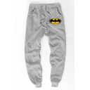 Men's Hot Fashion Cosplay Bat Printed Drawstring Waist Cotton Sweatpants