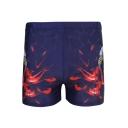 Men's Fashion Stripe Eagle 3D Print Polyster Elastic Waist Beach Shorts Swim Trunks