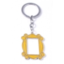 Funny Creative Monica Gold House Door Shaped Key Ring
