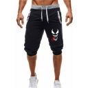 Men's Summer Hot Fashion Printed Drawstring Waist Casual Sports Sweat Shorts