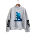 Hot Popular Godzilla King of the Monsters Mock Neck Long Sleeve Pullover Sweatshirt
