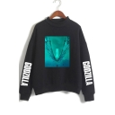 Godzilla King of the Monsters Mock Neck Long Sleeve Pullover Casual Sweatshirt