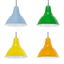 Aluminum Funnel Shape Pendant Light Living Room One Light Nordic Style Hanging Light with Adjustable Cord