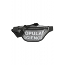 New Fashion Letter POPULAR SCIENCE Printed Transparent Plastic Beach Bag Waterproof Crossbody Belt Bag 38*15*1 CM