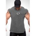 Mens Basic Round Neck Cotton Sport Training Gym Fitness T-Shirt