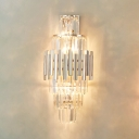 Modern Luxurious Wall Light Four Lights Glamorous Crystal Sconce Lamp for Living Room
