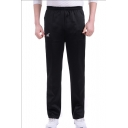 Fashion Logo Printed Elastic Waist Men's Casual Straight Relaxed Sports Sweatpants