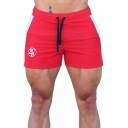 New Fashion Logo Printed Contrast Patched Zipped Pocket Drawstring Waist Sport Athletic Shorts for Men