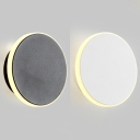 Black/White Eclipse Wall Sconce Light Modern Simple Metal LED Wall Light for Hallway Stairs