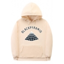 Popular Letter BLACKPYRAMID Graphic Printed Long Sleeve Loose Fit Hoodie