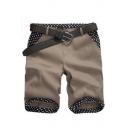 Men's Summer Trendy Polka Dot Pattern Slim Fit Casual Cotton Chino Shorts