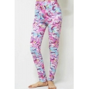 Hot Stylish Multi Color Print Elastic Waist Stretch Skinny Fitted Pants Leggings