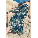 Summer New Arrival Floral Print Self-Tie Chiffon Classic Vintage Holiday Maxi Skirt