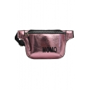 Fashion Letter MOMO Printed Laser Hip Pop Sports Crossbody Belt Bag 25*13*6 CM