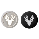 Antlers Stair Hallway Sconce Light Metal Nordic Black/White LED Wall Light in Warm/White