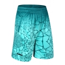 Summer Hot Fashion Printed Elastic Waist Loose Fit Basketball Shorts