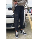 Men's New Fashion Multi-pocket Design Straight Loose Fit Cotton Cargo Pants