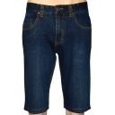 Men's Summer Fashion Simple Plain Blue Stretched Slim Fit Denim Shorts