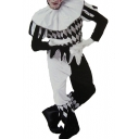 Popular Black and White Clown Cosplay Costume Funny Bodysuit Jumpsuits