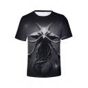 Popular Horrible Animal 3D Pattern Short Sleeve T-Shirt