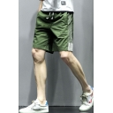 Men's Summer Fashion Classic Side Striped Drawstring Waist Casual Sports Shorts
